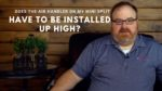 Should A Mini Split Air Handler Be Installed High On The Wall? - Ask the Expert Episode 180