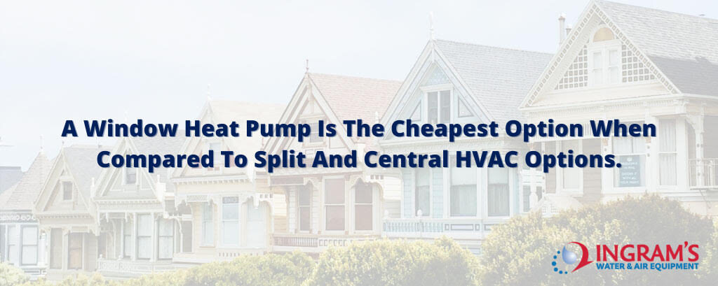 Window Heat Pump is Cheapest Option