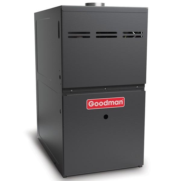 "100k BTU 80% AFUE Multi Speed 2 Stage ECM Goodman Gas Furnace - Upflow/Horizontal - 21"" Cabinet"