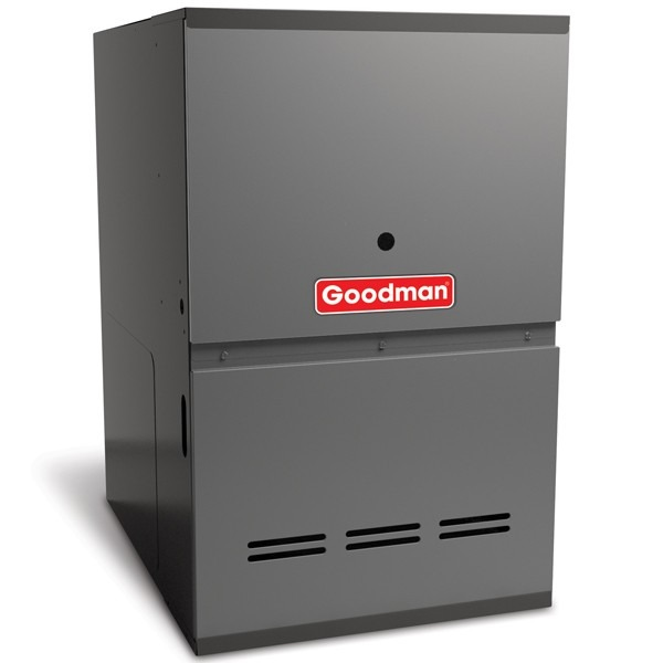 "100k BTU 80% AFUE Multi Speed 2 Stage Goodman Gas Furnace - Downflow - 21"" Cabinet"