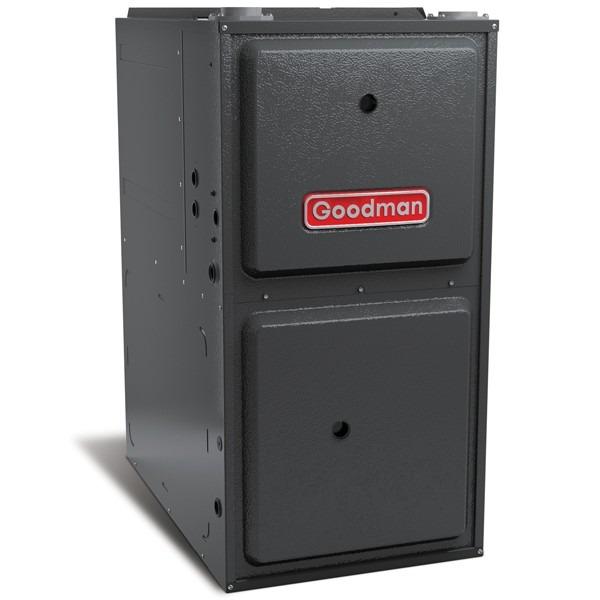 """100k BTU 96% AFUE Multi Speed Goodman Gas Furnace - Upflow/Horizontal - 21"""" Cabinet"""