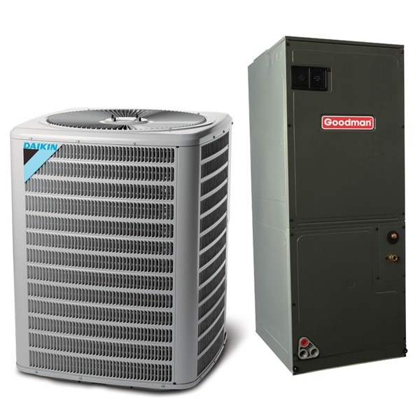 4 Ton 13 SEER Multi Speed Daikin Commercial Central Heat Pump Split System - Multiposition