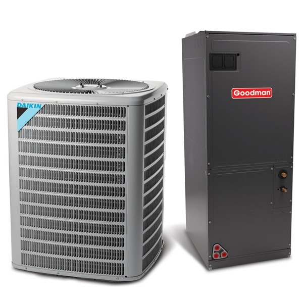 5 Ton 13 SEER Multi Speed Daikin Commercial Central Heat Pump Split System - Multiposition