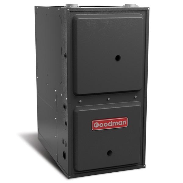 "80k BTU 96% AFUE Multi Speed Goodman Gas Furnace - Downflow/Horizontal - 21"" Cabinet"