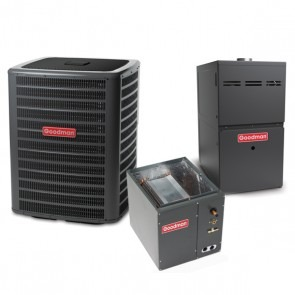 1.5 Ton 14.5 SEER 60k BTU 80% AFUE 2 Stage Variable Speed Goodman Central Air Conditioner & Gas Split System - Upflow