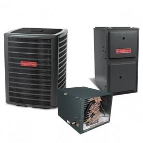 2 Ton 14 SEER 40k BTU 96% AFUE Multi Speed Goodman Central Air Conditioner & Gas Split System - Horizontal