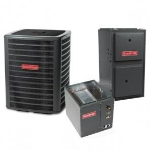 3.5 Ton 14 SEER 120k BTU 96% AFUE Multi Speed Goodman Central Air Conditioner & Gas Split System - Upflow