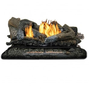"33k BTU Comfort Glow 24"" Highland Ember Log Set - Dual Fuel"
