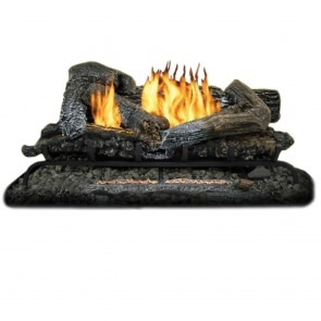 "33k BTU Comfort Glow 30"" Highland Ember Log Set - Dual Fuel"