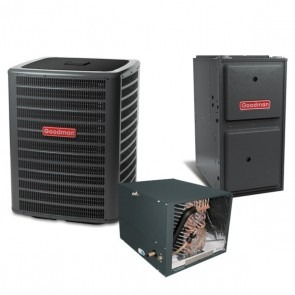4 Ton 14 SEER 120k BTU 96% AFUE Multi Speed Goodman Central Air Conditioner & Gas Split System - Horizontal