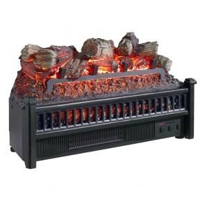 4600 BTU Comfort Glow Electric Log Fireplace Insert with Blower & Firebox Projection