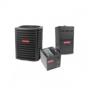 5 Ton 13.5 SEER 100k BTU 80% AFUE 2 Stage Variable Speed Goodman Central Air Conditioner & Gas Split System - Upflow