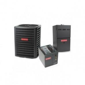 5 Ton 13.5 SEER 100k BTU 80% AFUE 2 Stage Variable Speed Goodman Central Air Conditioner & Gas Split System - Upflow