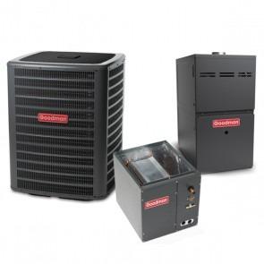 5 Ton 14.5 SEER 100k BTU 80% AFUE 2 Stage Variable Speed Goodman Central Air Conditioner & Gas Split System - Upflow