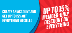 Up to 15% Off - Members Only